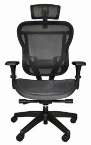 Rika Chair with fabric seat and headrest