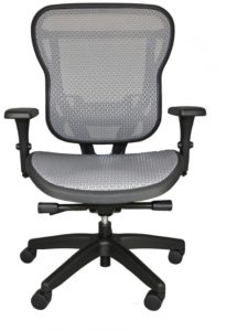 Rika chair with gray mesh seat
