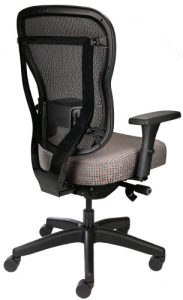 Rika office chair with mesh back and fabric seat