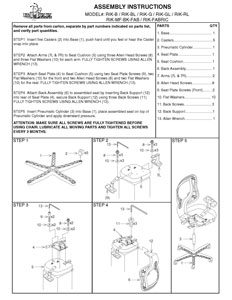Rika Chair Assembly Instrucitons Thumbnail