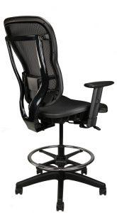 Rika black mesh stool, back angle
