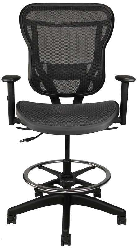 Rika back mesh stool with arms