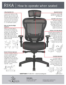 Rika Chair Fabric Seat/Operating Instructions