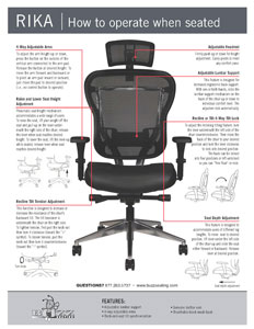 Rika Chair Leather Seat/Operating Instructions